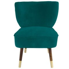 Westbury Velvet Jade Green Chair