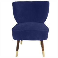 Westbury Velvet Navy Blue Chair