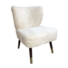 Westbury Chair - Shaggy Off White