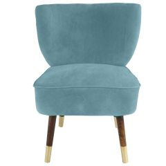 Westbury Velvet Sky Blue Chair