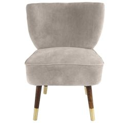 Westbury Velvet Silver Grey Chair