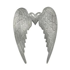 Large Heart Angel Wing Wall Hanging
