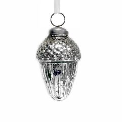Small  Silver Acorn Bauble
