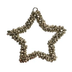 NEW! Small Jingle Beads Hanging Star Decoration