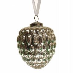 NEW! Large Berry Bauble - Antique Silver