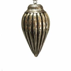 NEW! Small Fluted Teardrop Bauble - Antique Black Gold