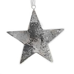 Large Hammered Star Hanging Decoration