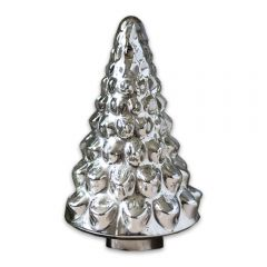 Small Antique Silver Christmas Tree Ornament
