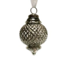 NEW! Small Emperor Bauble - Antique Silver