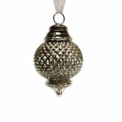 NEW! Large Emperor Bauble - Antique White Silver