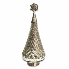 NEW! Medium Christmas Tree With Star - Antique Silver