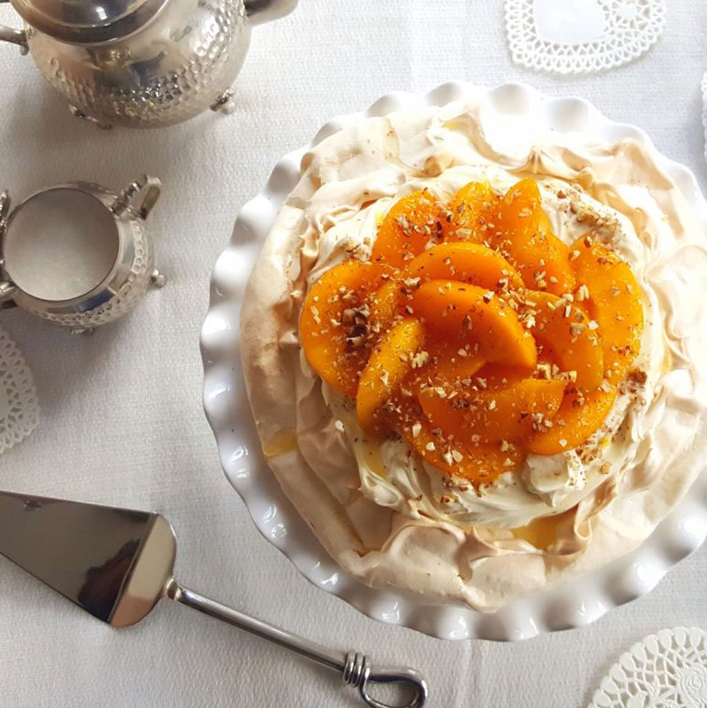 'Beauty & The Peach' Pavlova Recipe
